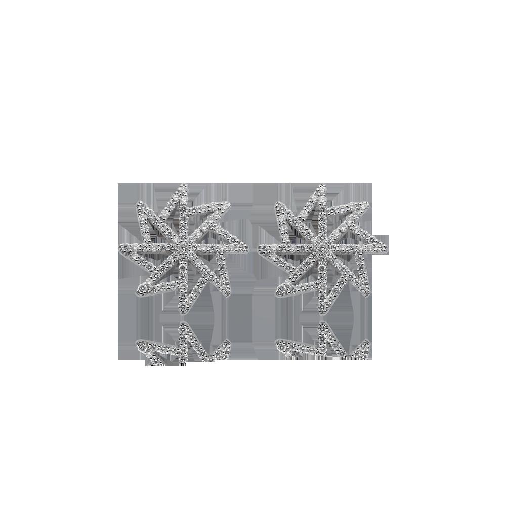 Σκουλαρίκια AEOLOS σε λευκό χρυσό