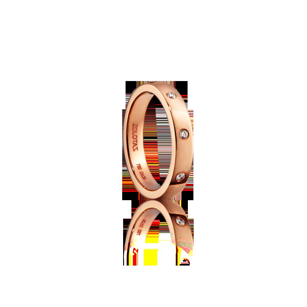Βέρα γάμου σε ροζ χρυσό 18ΚΤ με διαμάντια 0.20cts bf96c56306d